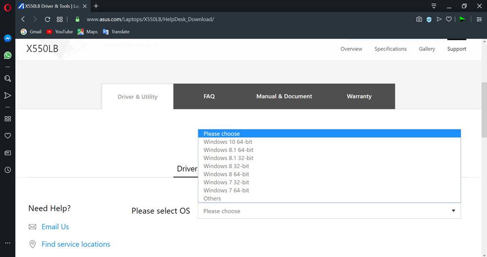 نصب درایور برای لپ تاپ ایسوس