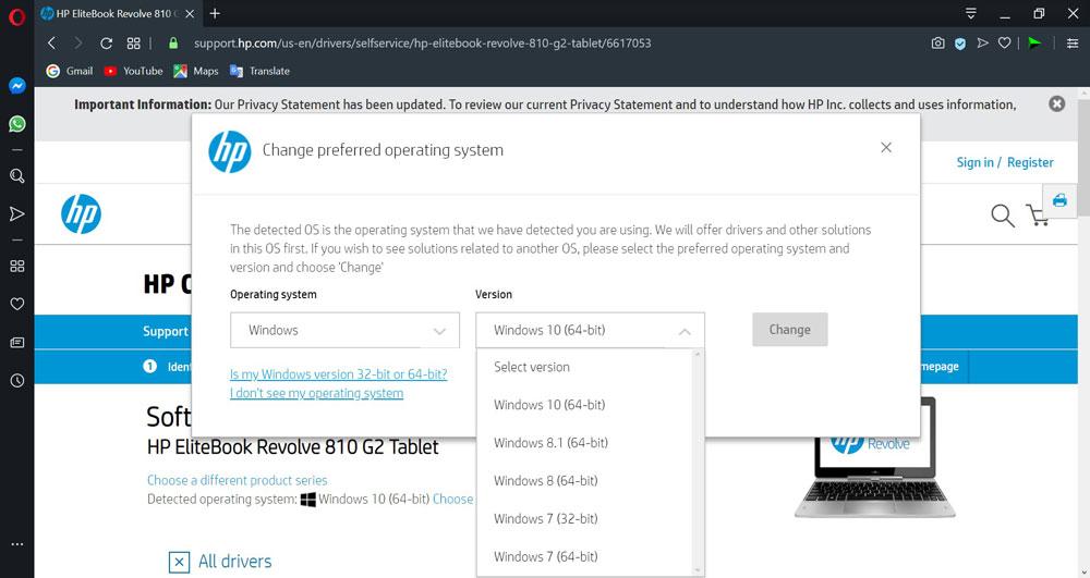 دانلود درایورهای لپ تاپ hp برای ویندوز 10