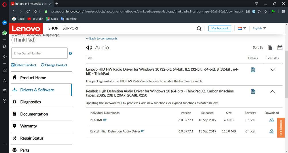 دانلود درایور لپ تاپ لنوو برای ویندوز