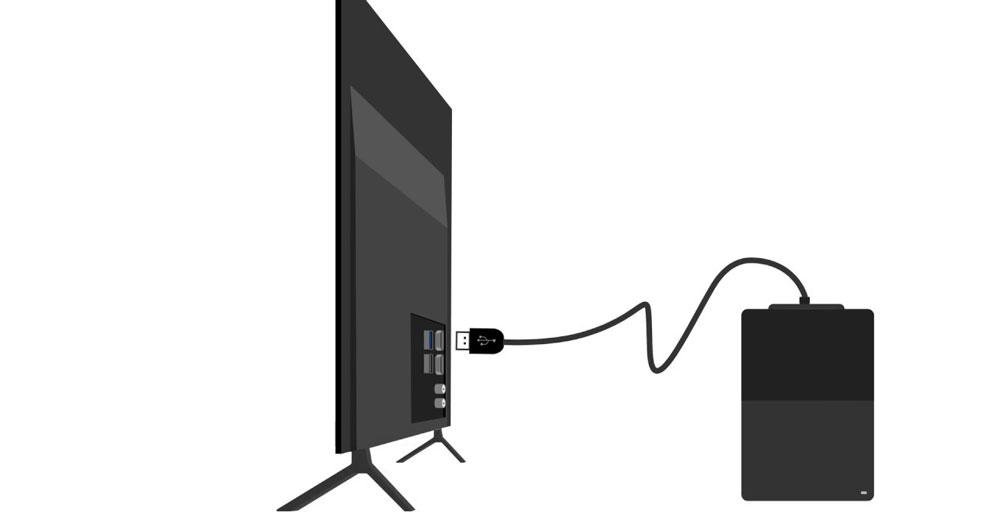 نحوه اتصال هارد به تلویزیون سامسونگ