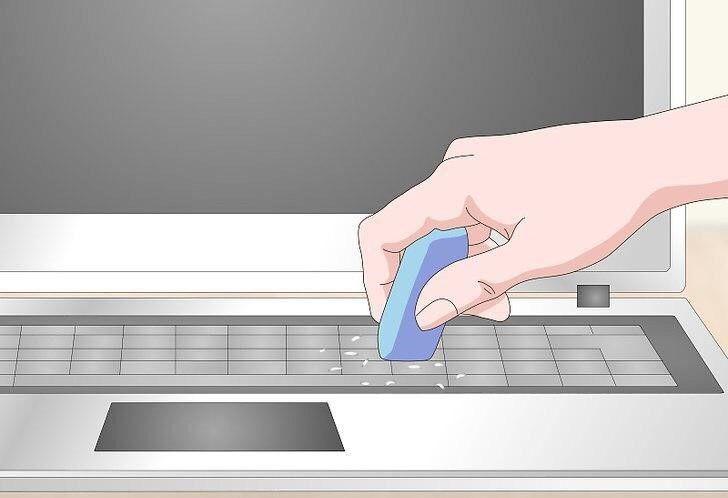 تمیزکردن کیبورد لپ تاپ