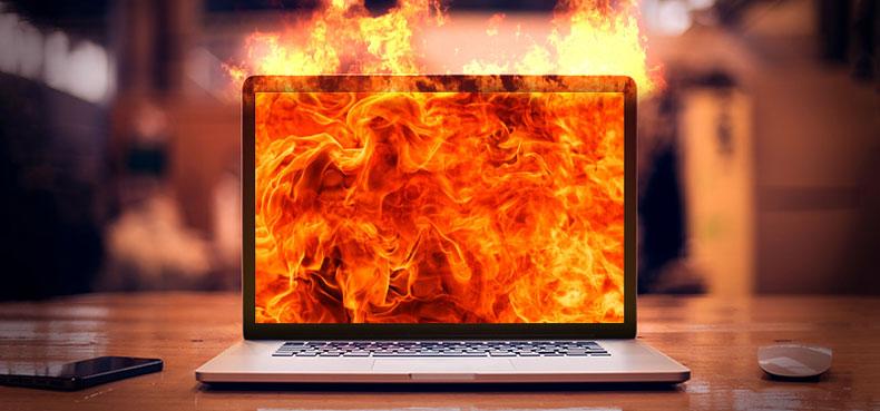 داع شدن لپ تاپ